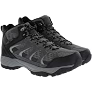 Khombu Tyler Men's Leather Hiking Outdoor Tactical Boots -Black/Grey