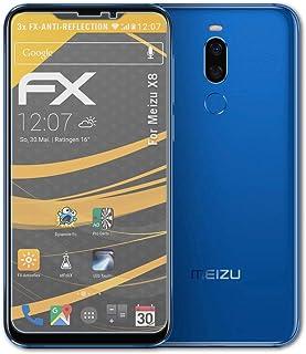 atFoliX Skärmskydd är kompatibel med Meizu X8 Skyddsfilm, antireflekterande och stötdämpande FX Film (3X)