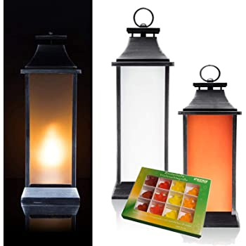 FUNKELEFFEKT Outdoor Laternen mit 50 LED beleuchtet Timer und Batterie