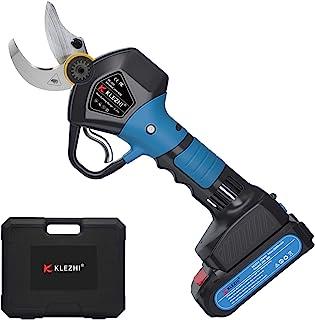 K KLEZHI Professional Cordless Electric Pruning Shears, DC 21V Electric Secateurs Pruners, 2PCS 2Ah Rechargeable Lithium B...