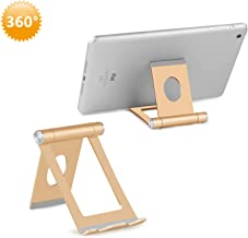 Full 360° Adjustable Cell Phone Stand, YOSHINE Portable Cell Phone Holder for Desk Aluminum Stand Holder Dock Cradle for Phone Xs XR X 8 7 6 6S Plus SE 5 Smartphones Tablets E-Reader (4-10.1