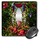 3dRose mp_52204_1 8 x 8 Fairy Mirror Gardens Flowers, Fairy Land, Beautiful Fantasy Backgrounds Mouse Pad