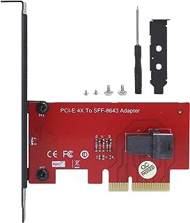 Mini-SAS HD 36Pin Conector SFF-8643 a PCI-E 4X Adaptador Convertidor de Tarjeta con 1 Mini-SAS HD 36Pin Conector Hembra