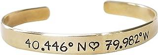 map coordinate bracelets