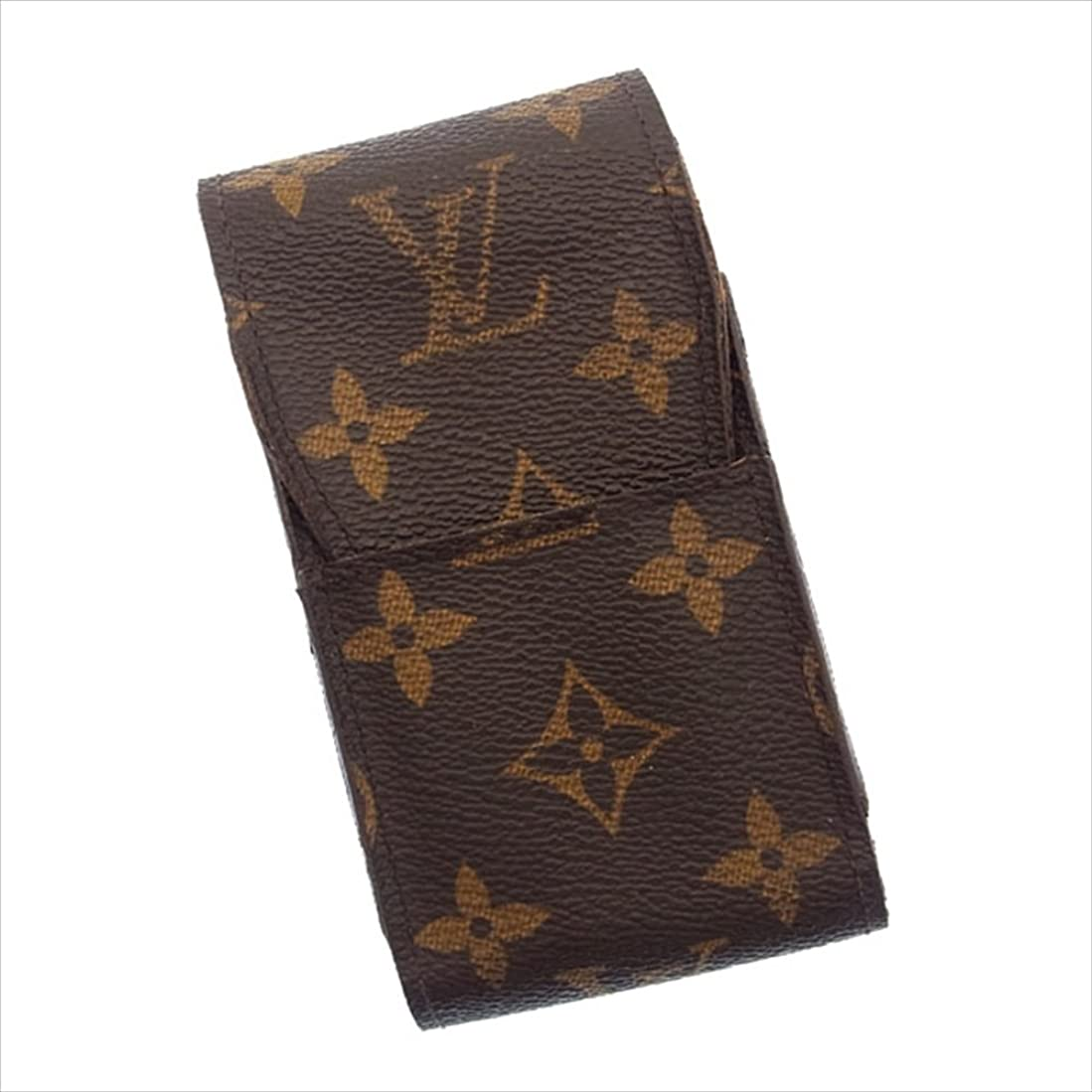 完璧なのれん変化(ルイヴィトン) Louis Vuitton シガレットケース タバコケース ブラウン エテュイシガレット モノグラム レディース 中古 D631