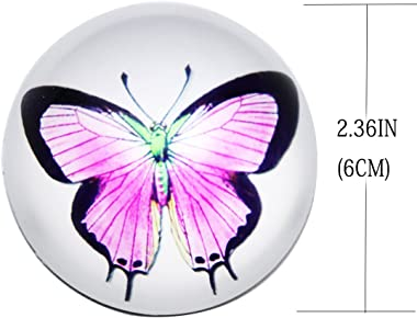 """Waltz&F Crystal butterfly Paperweight Galss Globe Hemisphere Home Office Table Decoration 2.36"""""""