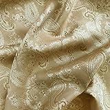 Nude Paisley Jacquard Polyester Viskose Kleid Futter Stoff