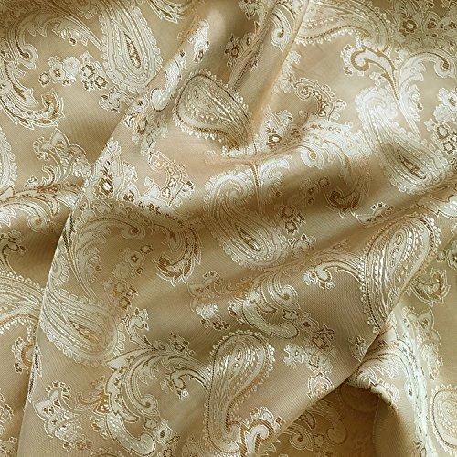 Nude Paisley Jacquard Polyester Viskose Kleid Futter Stoff 152,4cm 150cm breit–Meterware
