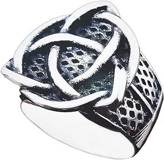 Gungneer Stainless Steel Celtic Knot Signet Ring Scandinavn Jewelry Accessories for Men Women