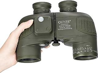 QUNSE Prismáticos 10x50 de brújula de Navegación de Uso