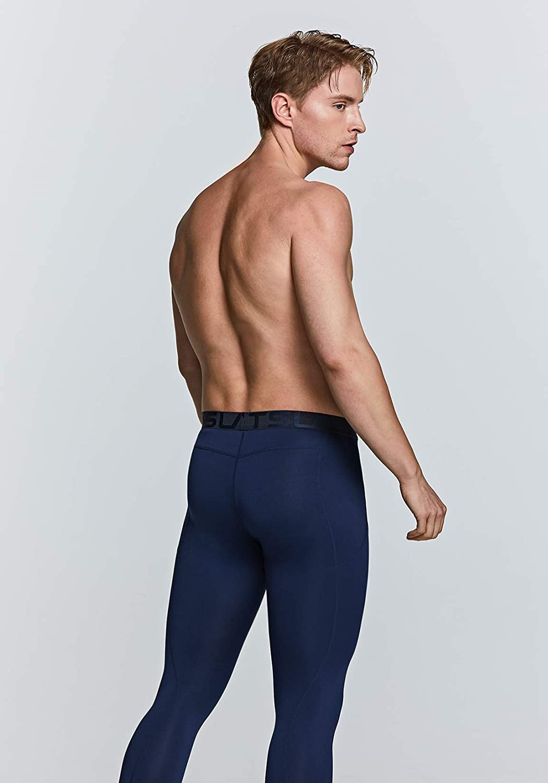 couche inf/érieure pour lhiver leggings et collants de sport athl/étique TSLA Pantalons de compression thermique 3//4 pour homme