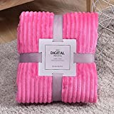 Naladoo Throw Blanket for Couch, Fuzzy Fluffy Soft Cozy Blanket – Lightweight, Soft, Plush, Fluffy, Warm, Cozy – Perfect for Bed, Sofa, Camping, Travel (Single Size 40'' X 27.5'', Solid Color)