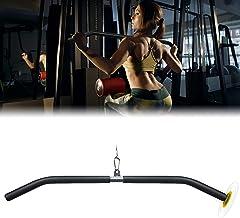 DIY LAT Pulldown Bar voor Biceps, [84cm-104cm] Dikkere Kabel Machine Pull Down Bar voor Gym, Gebogen Pull Bar voor Triceps...