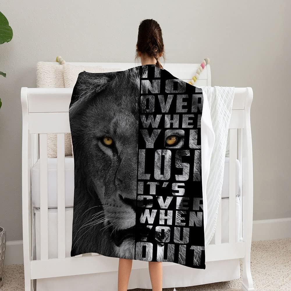 San Jose Mall GANTEE Lions Max 63% OFF Head Blanket Super Pe and Soft Fleece Cozy
