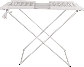 Mind Reader ECDRY-SIL 100 Watt Stainless Steel Foldable, Portable Electric Heated Clothes Rack, Towel Stand Dryer, Airer, ...