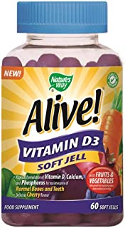 Nature's Way Alive! Vitamin D3 Soft Jell Multi Vitamin Capsules, 360 g