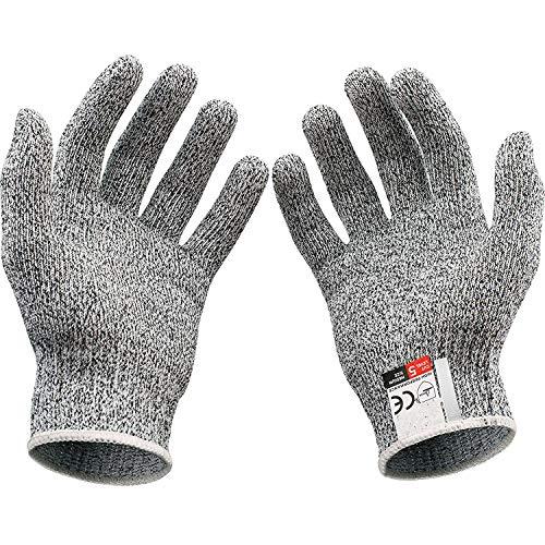 Gants de protection contre les coupures, gants résistants de qualité supérieure, légers, ajustement parfait pour tous les usages, pour sculpture sur bois Oyster Shucking, Whittling viande