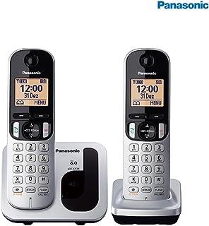 Telefone sem Fio Identificador Chamada Viva Voz, Panasonic, 3302137, Prata