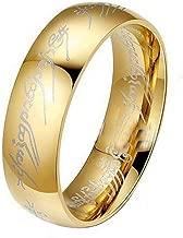 حلقة هوبيت ذهبية من الفولاذ المقاوم للصدأ من لورد أوف ذا رينجز