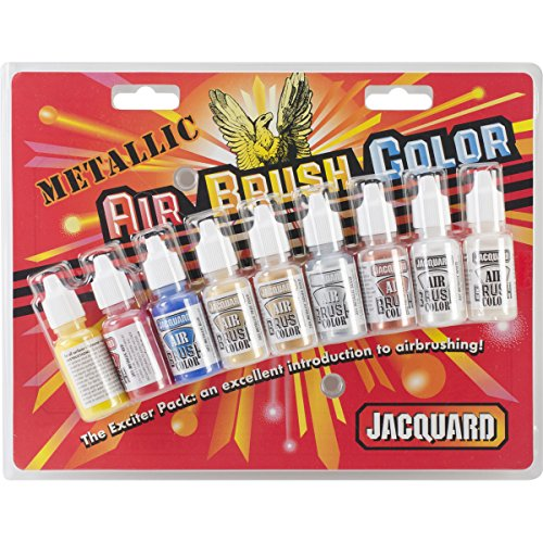 JACQUARD Metallic Airbrush Exciter Pack, 8 colors