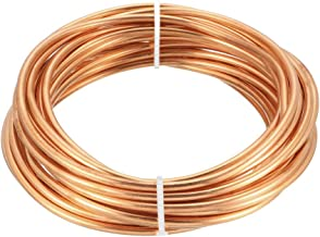 uxcell Refrigeration Tubing, 1/8 inches OD x 5/64 inches ID x 16 Ft Soft Coil Copper Tubing