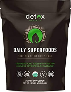 Sponsored Ad - Detox Organics Chocolate Green Superfood Powder - Made with Organic Ingredients Like Kale, Wheatgrass, Chlo...
