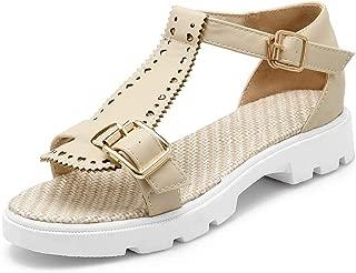 BalaMasa Womens ASL06877 Pu Platform Heels