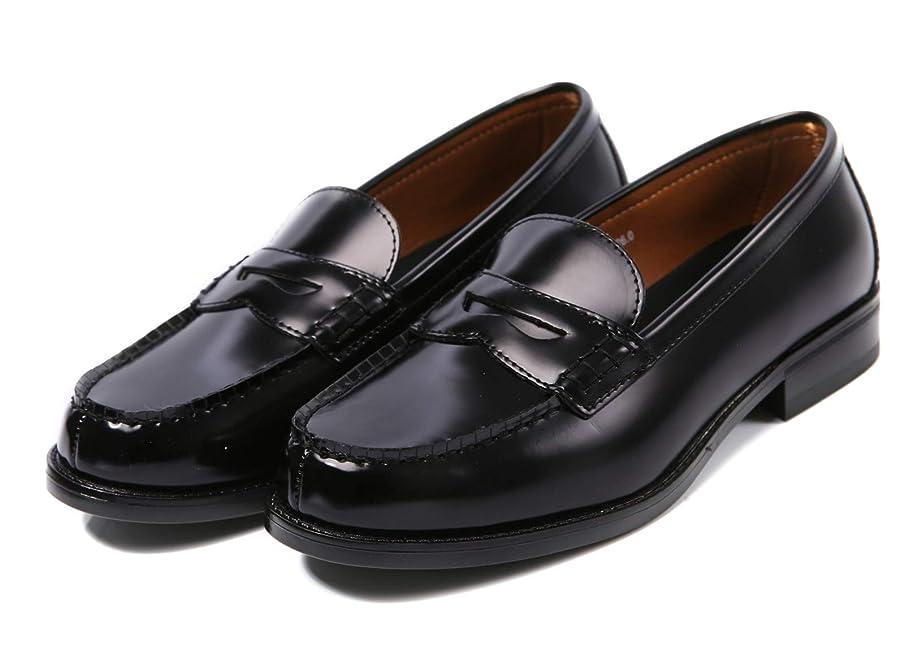 側効率的に沈黙[ジョーマリノ] Jo Marino メンズ ローファー 学生靴 通勤 通学 撥水加工 軽量 防滑 防臭