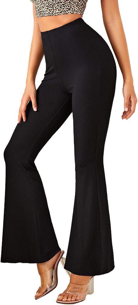 Soly hux, pantaloni da donna per yoga, con elastico in vita, pantaloni sportivi, 95% poliestere, 5% elastan 07200602545-9-16-M