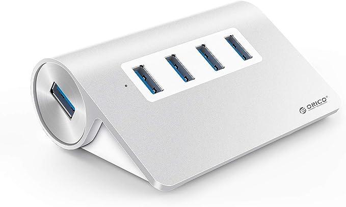 224 opinioni per ORICO Hub in Alluminio 4 Porte USB3.0 con 2Ft. Cavo USB per Smartphone, Tablet,