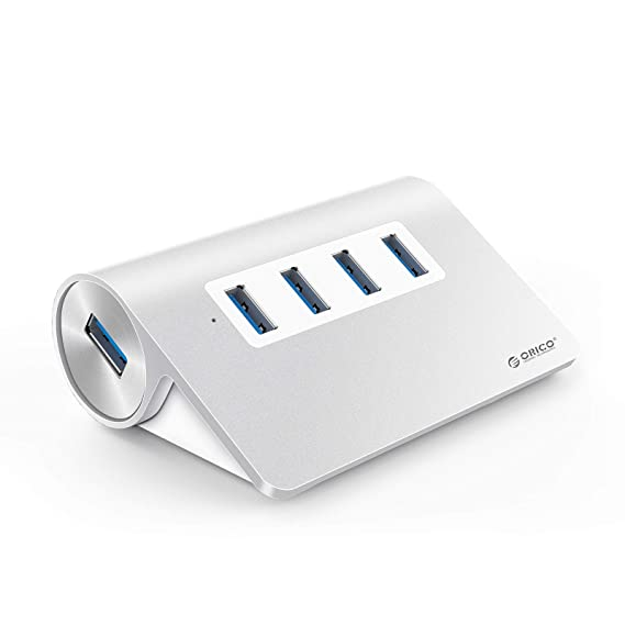 ORICO 4-Port USB 3.0 Unibody Aluminum Portable Data Hub with 1M USB Cable Windows, Vista, Mac OS and Linux[Not for Charging]