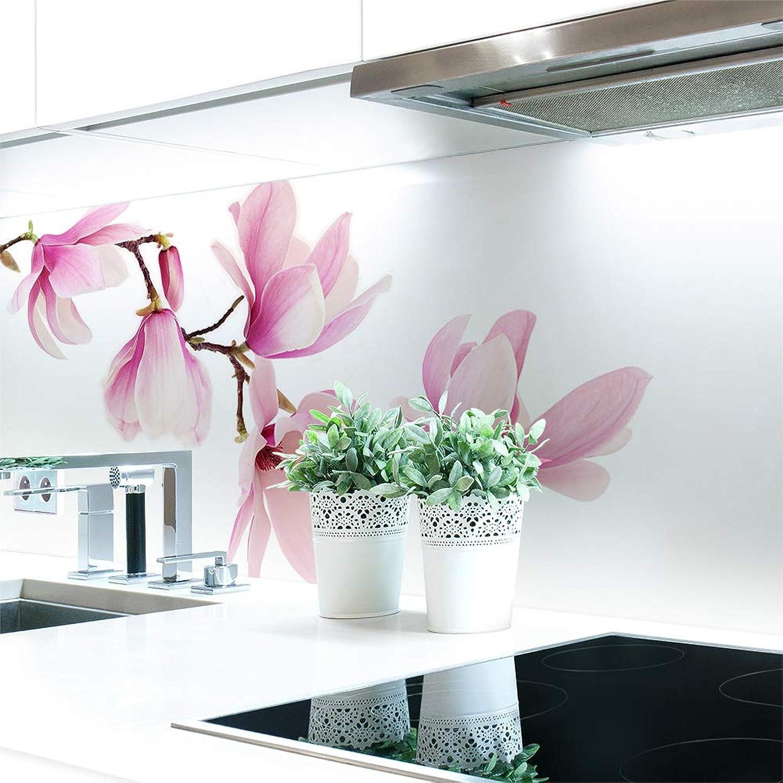 Küchenrückwand Magnolien Zweig Premium Hart-PVC 0,4 mm selbstklebend - Direkt auf die Fliesen, Gre 400 x 60 cm