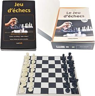 Editions Mathello | Coffret éducatif, Jeu d'échecs avec Livre | Jeu d'échecs | Pièces aimantées | Jeu de stratégie et de r...