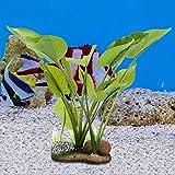 【𝐏𝐫𝐨𝐦𝐨𝐜𝐢ó𝐧 𝐝𝐞 𝐒𝐞𝐦𝐚𝐧𝐚 𝐒𝐚𝐧𝐭𝐚】 Acuario Plantas de plástico, Acuario de Resina sintética Artificial Vivo Simulación Plantas de Agua de Roca, para Acuario Decoración de Paisaje de Tanq