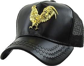 Dominican Republic Gold Badge Wolf Rooster Tuna Trucker Cap Adjustable Snapback Hat
