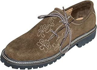 Dirndl Trachten Haus Leather German Embroidered Oktoberfest Lederhosen Haferl Shoe Brown