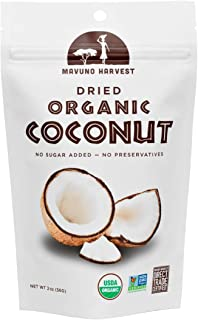 Mavuno Harvest Direct Trade Organic Dried Fruit, Coconut, 2 Ounce, Pack of 6