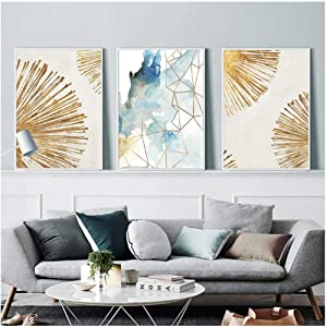 Abstract Poster Geometric Wall Art Canvas Print Marble Canvas Painting Nordic Poster Wall Pictures For Living Room Decoration-40x60cmx3pcs(no frame)