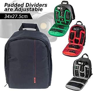 OZSTOCK® Waterproof DSLR SLR Camera Soft Case Bag Backpack Rucksack for Canon Nikon Sony (Grey)