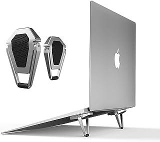 ノートパソコン スタンド-冷却 貼り付け型 強い粘着力 pcスタンド 軽量 持ち運び便利 放熱対策 滑り止め 軽量[メーカー1年保証] (1Pack(2Pcs))