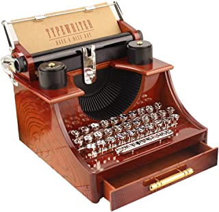 Creative Music Box , Sacow Vintage Typewriter Music Box Christmas Birthday Gifts Home/Office/Study Room Decor