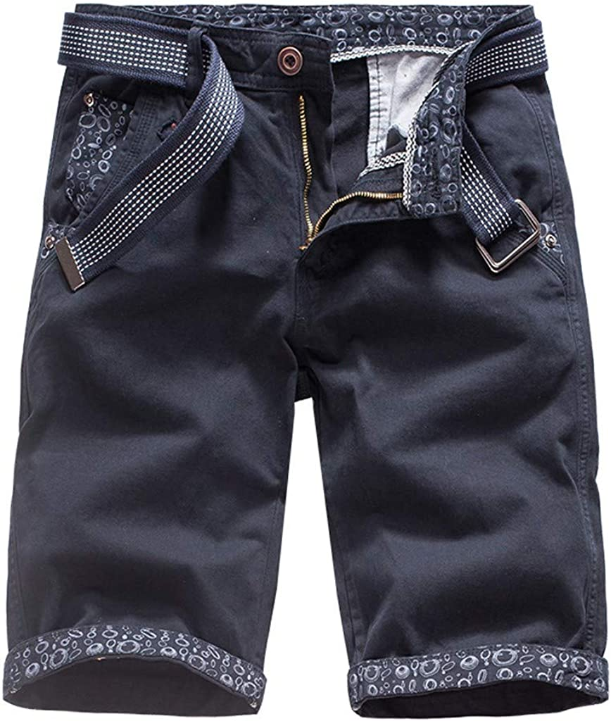 MODOQO Cargo Shorts for Men-Summer Casual Solid Color Relaxed Fit Premium Tooling Shorts