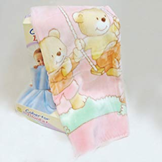 Blanket Fuzzy Plush Spanish Blue Or Pink Or Beige Color (110X140, PINK)