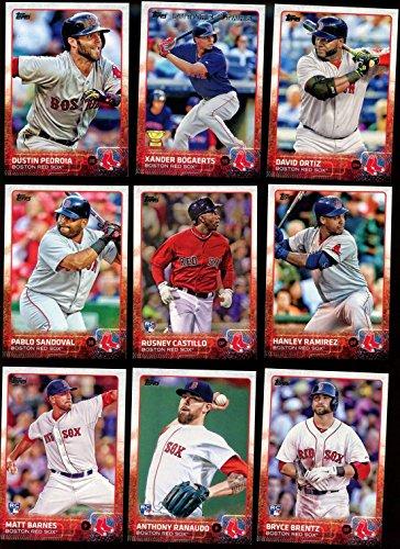 Boston Red Sox 2015 Topps MLB Baseball Regular Issue Complete Mint 25 Card Team Set Dustin Pedroia, David Ortiz, Rusney Castillo Rookie Plus