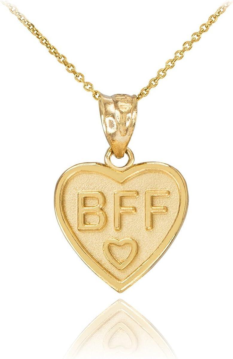 Details about  /10K Yellow Gold Best Friends Break-A-Part Heart Charm Pendant MSRP $190
