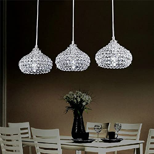 FEEKENBU Modern 3 Lights Crystal Pendant Lighting Ceiling Chandelier Lamp  For Kitchen