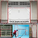 EZGoal Hockey Backstop, Red/White