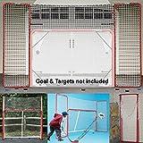 EZGoal Hockey Backstop, Red/White ,10' x 6'