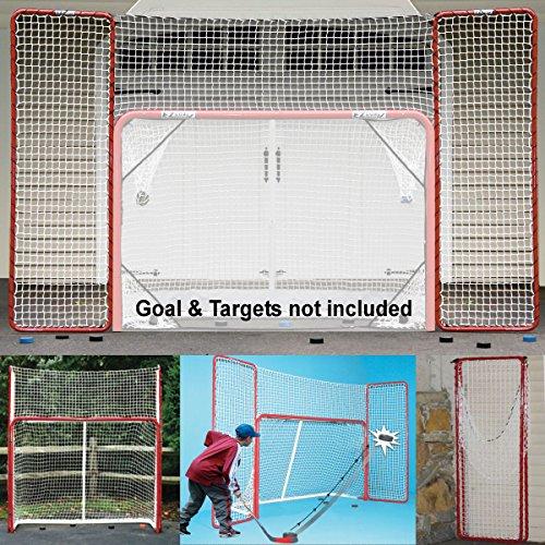 EZGoal Hockey-Rücklaufsperre, rot/weiß, 3 x 1,8 m