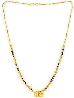 MEENAZ Women's Traditional American Diamond One Gram Gold Long Stylish Copper Meenakari Maharashtrian Wati Tanmaniya nalla...